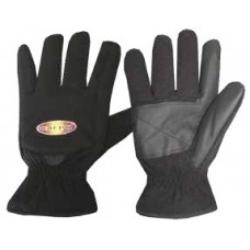 THERMAFUR™ Air Activated Fleece Heating Gloves with Full Fingers (Includes 1 Pair Heat Pax™ Mini/Hand Warmers, Color: Black)