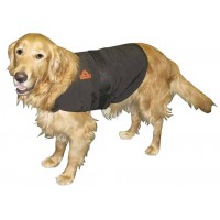 THERMAFUR™ S Air Activated Heating Dog Coat (Color: Black, Includes 2 Pair Heat Pax™ Mini Warmers)